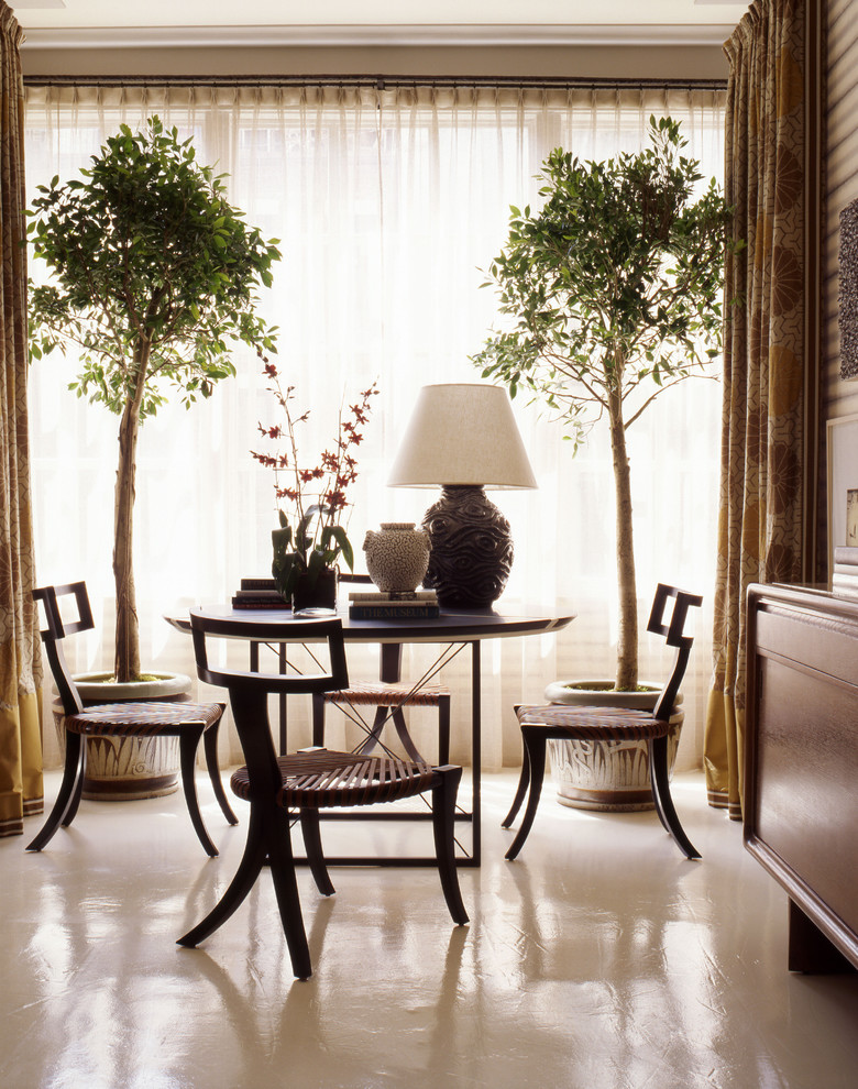 Mid-sized elegant dining room photo in New York