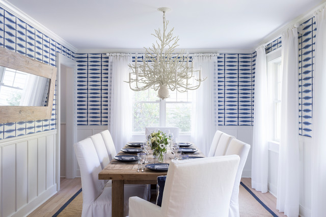 East Hampton Beach Cottage Beach Style Dining Room