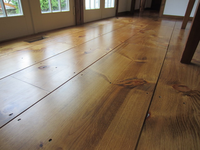 East Hampton Wide Plank Eastern White Pine Installation
