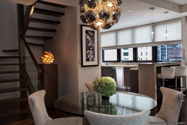 East Midtown Duplex Penthouse contemporary-dining-room