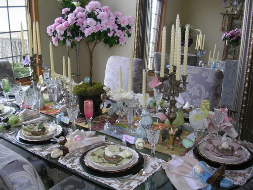 Easter dinner table settings