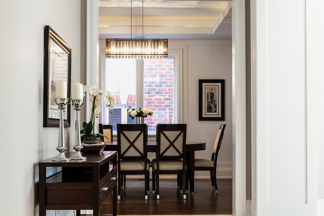 Dining room - transitional dining room idea in Toronto