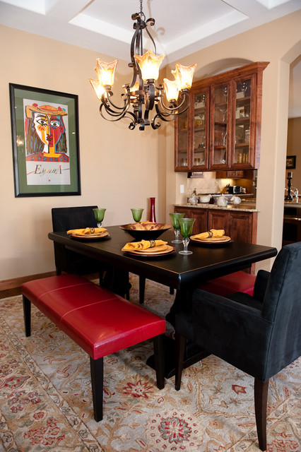 Eclectic & Travel Inspired eclectic dining room