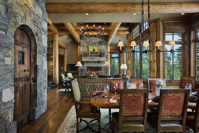 Montana mix eclectic dining room