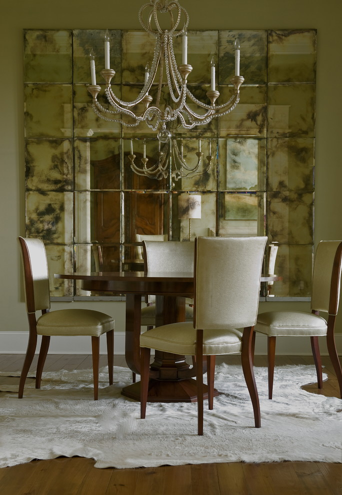 Dining room - eclectic dining room idea in New York