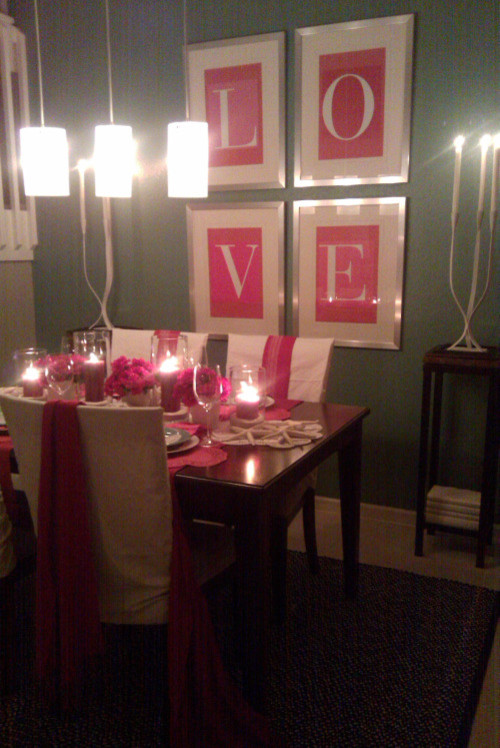 LOVE Tablescape eclectic dining room