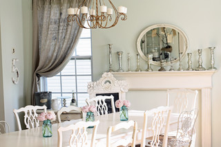 Eclectic Dining Room shabby-chic-style-dining-room