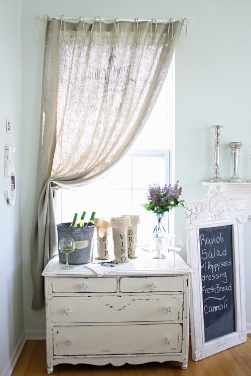 French Larkspur eclectic dining room