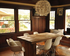 Eclectic Dining Room in Craftsman midcentury-dining-room