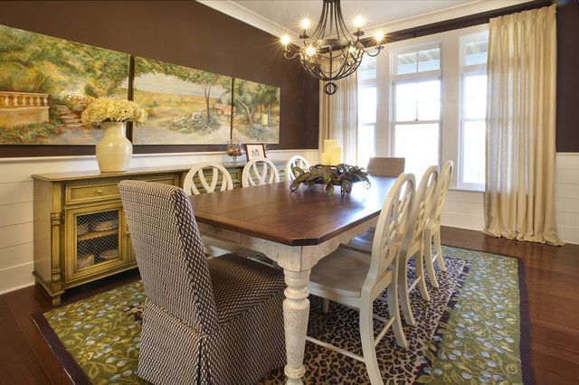 New Construction eclectic dining room