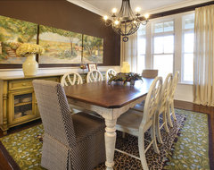 New Construction eclectic-dining-room