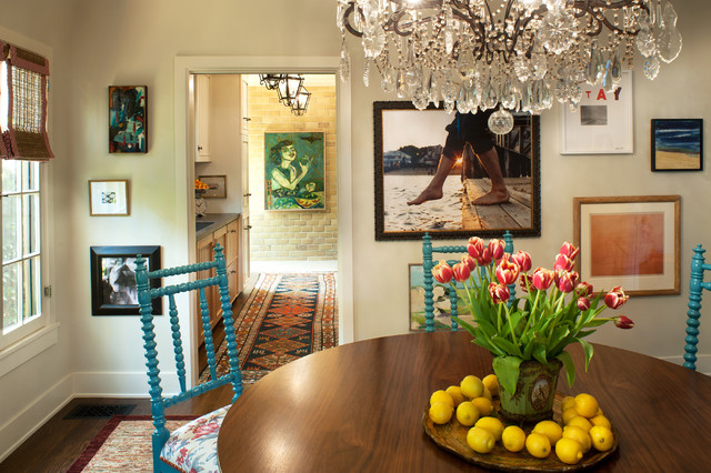 eclectic dining room by Tommy Chambers Interiors, Inc.