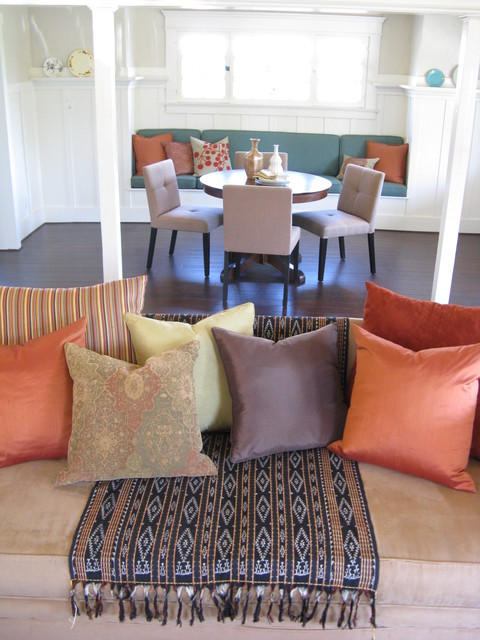 Eclectic Dining Room with Banquette eclectic-dining-room