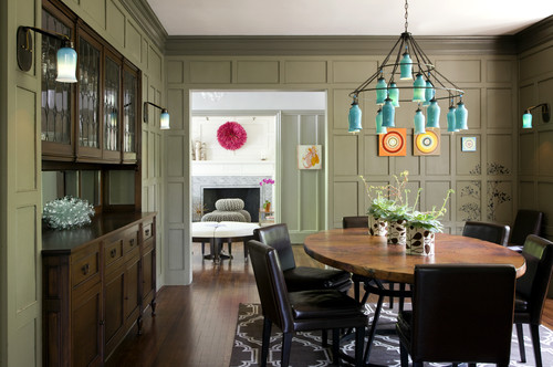 Eclectic Modern Tudor Dining Room eclectic dining room