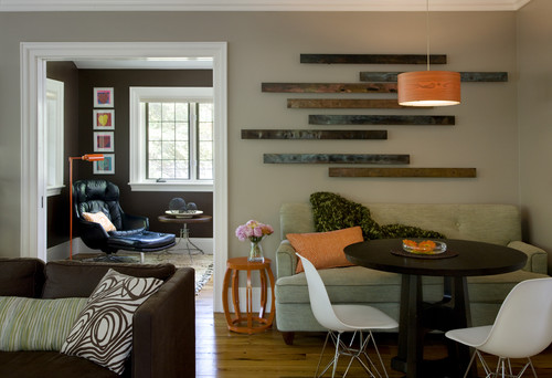 Eclectic Modern Tudor Family Room eclectic family room