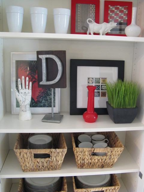 Eclectic Shelf Display eclectic-dining-room