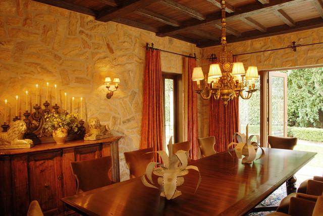 Eco Friendly Tuscan Estate Mediterranean Dining Room
