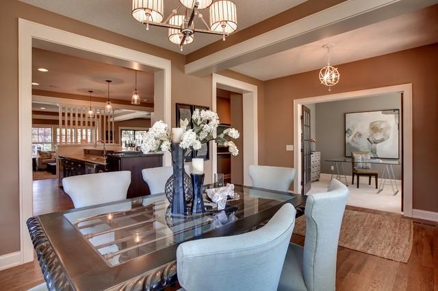 edina model home 2012 contemporary dining room