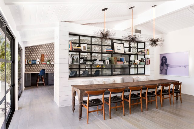 edwin midcentury dining room los angeles by brown