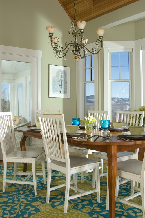 Remodelaholic benjamin moore 2015 paint color of the for Light green dining room