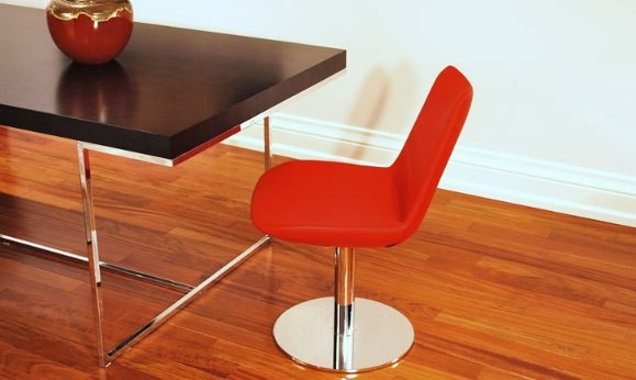 Eiffel Round Dining Chair & Madrid Dining Table contemporary-dining-room
