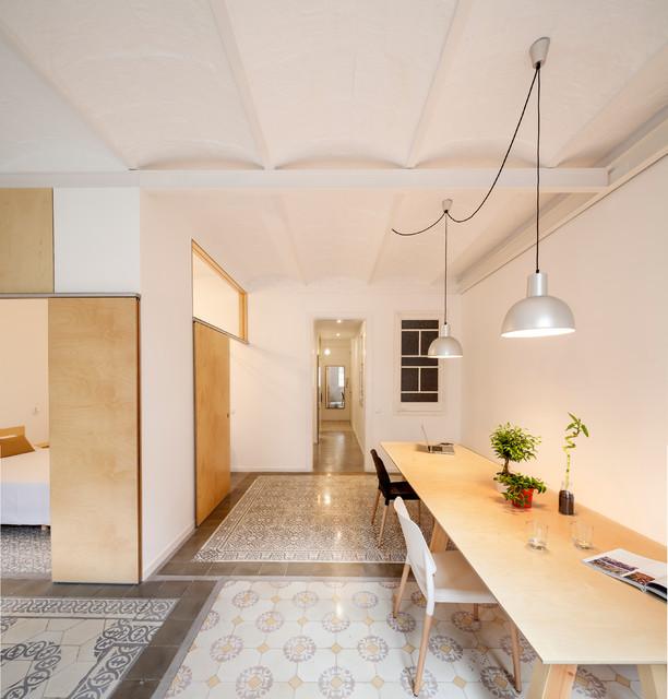 EIxample apartment Barcelona eclectico-comedor