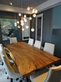 elbow new build   contemporary   dining room   calgary