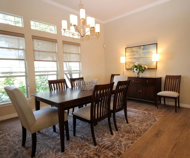 Elegant Casual Contemporary Home - Transitional - Dining Room ...