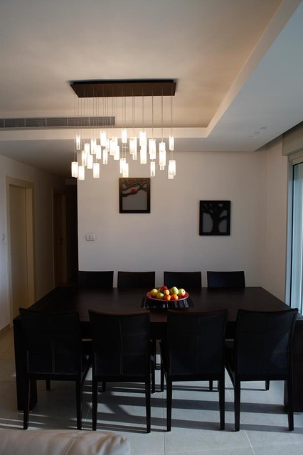 Elegant chandelier rain drops pendants modern dining room miami by galilee lighting - Modern pendant lighting for dining room ...