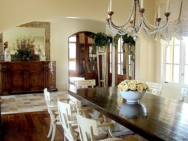 Elegant Country French Compound Traditional Dining