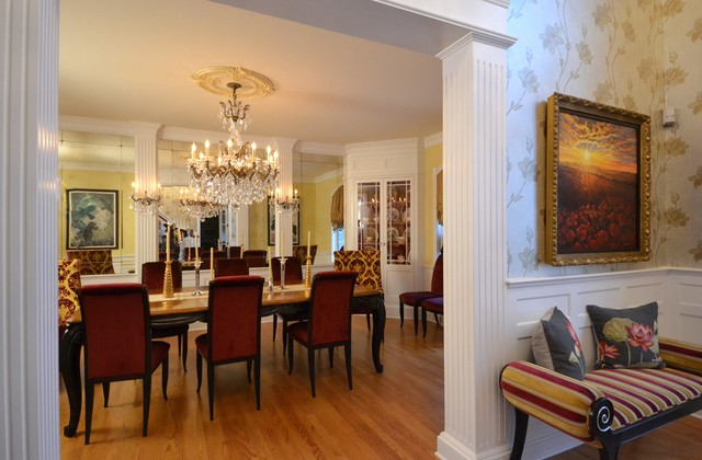 Inspiration for a transitional dining room remodel in Philadelphia