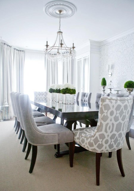 elegant dining contemporary dining room montreal by lux decor