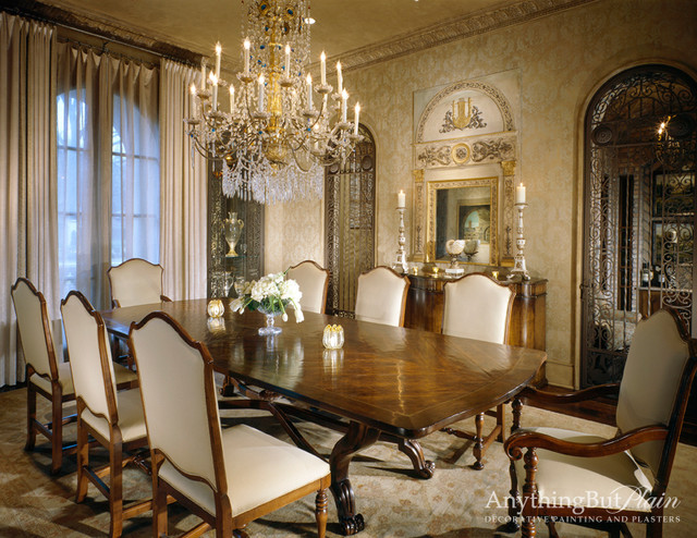 Elegant dining room traditional dining room houston for Classy dining room ideas