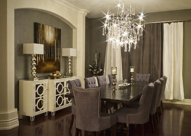 Elegant Dining Room Modern Toronto By