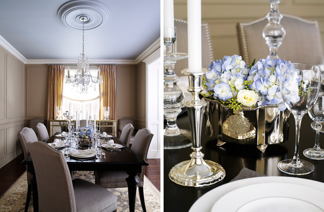 elegant dining room contemporary dining room toronto by laura