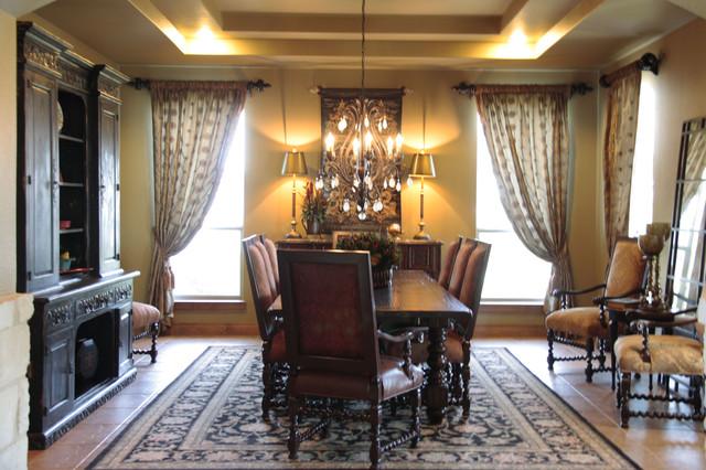 Elegant Old World Dining Room Mediterranean Dining Room