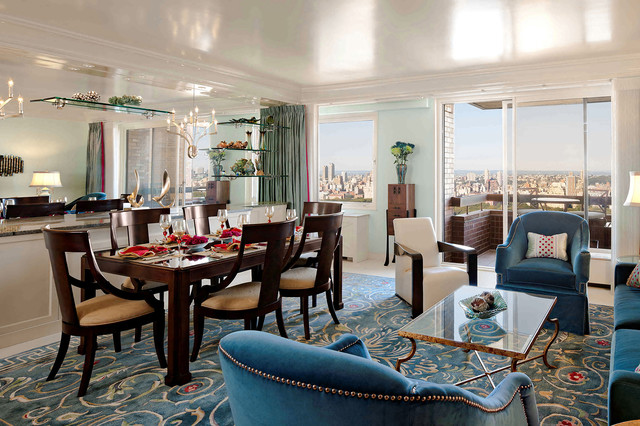 Elegant Open Concept City Living Traditional Dining Room New York By The Interior Edge