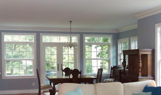 Elegant remodel addition transitional dining room for A j pinder salon grand rapids
