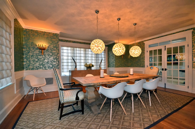 Elegant Rustic Dining Room Eclectic Dining Room