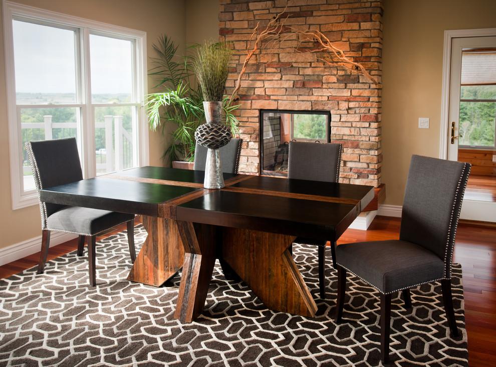 Elegant Rustic Modern Dining Table Room