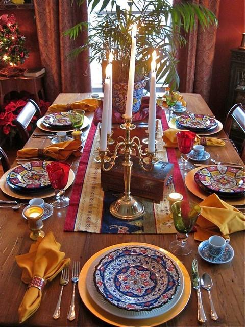 Elegant tablescapes dining-room