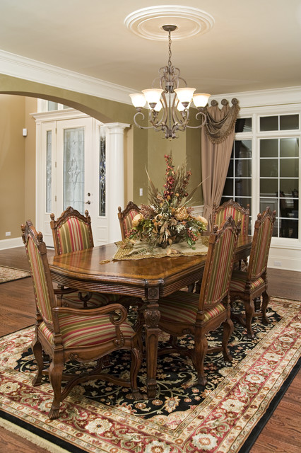 Elegant Traditional Home with English Pub traditional-dining-room