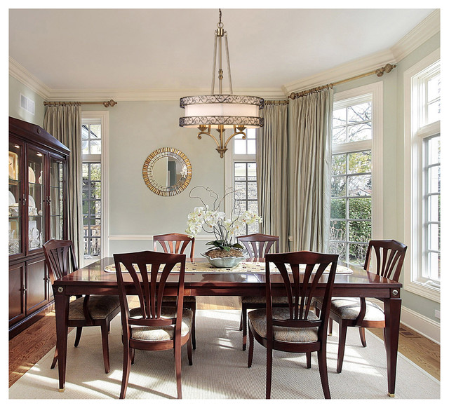 Traditional Dining Room: ELK Lighting 11218/3 Abington Antique Brass 3 Light