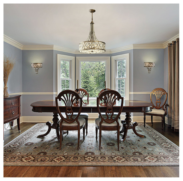 Dining Room Chandeliers Traditional: ELK Lighting 11288/6 Amherst Antique Bronze Pendant
