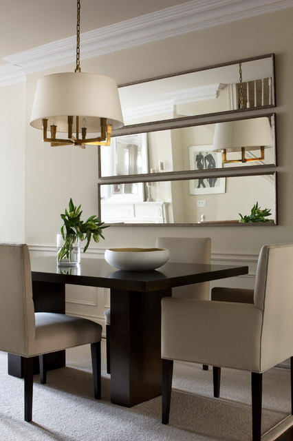 Merveilleux Example Of A Transitional Beige Floor Dining Room Design In Toronto With  Beige Walls