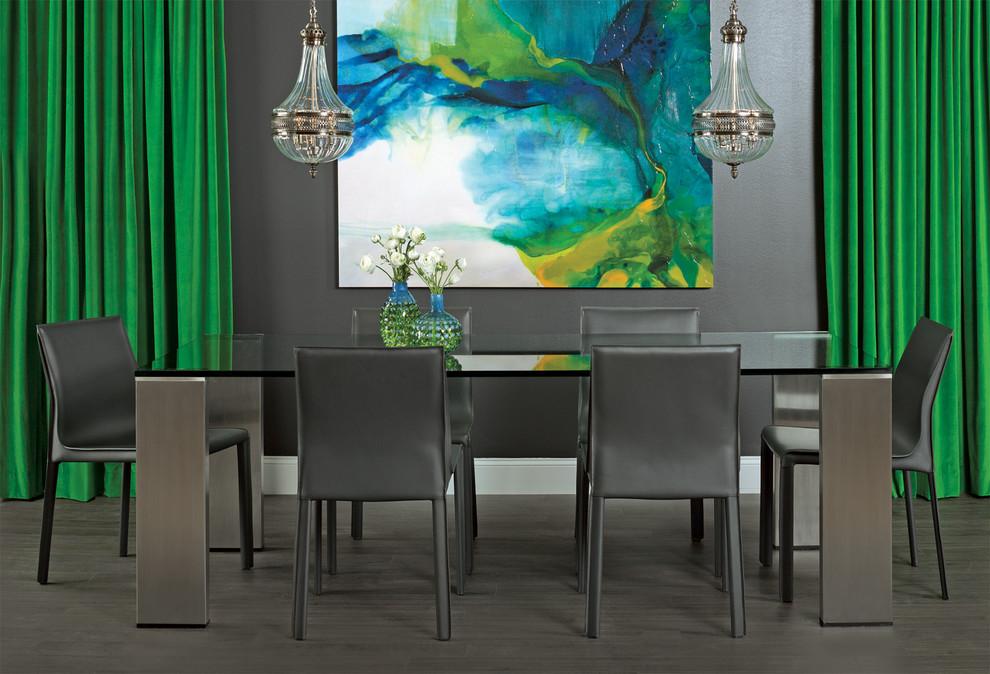 Dining room - contemporary dining room idea in Houston