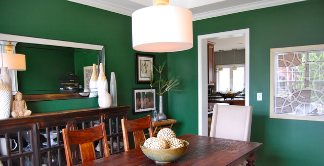 Emerald Green Dining Room Contemporary Dining Room