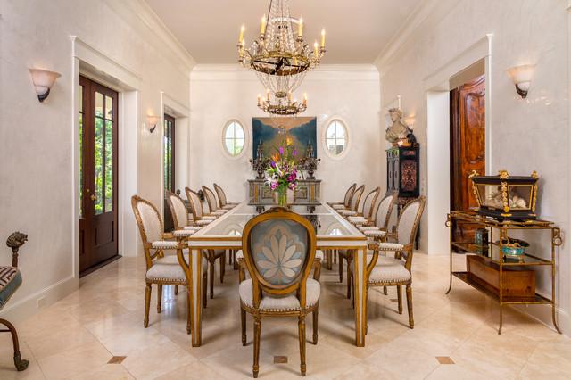 lagasse 39 s custom built dining table mediterranean dining room