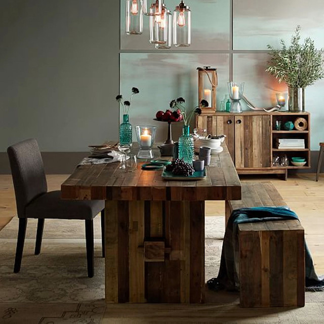 EMERSON RECLAIMED WOOD TABLE Modern Dining Room Other Metro By