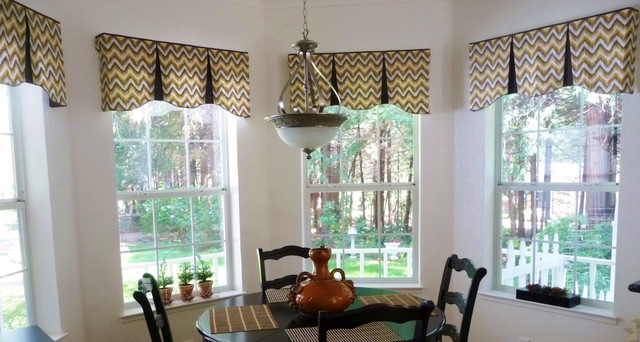 Emilee hidden rod pocket valances contemporary dining for Dining room valances